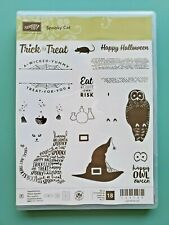 Retired Stampin' Up! Spooky Cat photopolymer stamp set of 18 halloween stamps