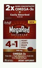 MegaRed Advanced 4-in-1 2x Concentrated Omega, 500mg, 80 Count (No box)