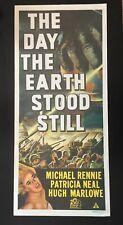 "1951 ""THE DAY THE EARTH STOOD STILL"" AUSTRALIAN 1970 RR DAYBILL MOVIE POSTER"