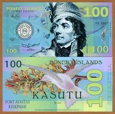 Poneet Islands (Mujand) 100 Kasutu 2015 UNC POLYMER Limited Issue Fantasy Note