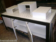 RETAIL DISPLAY TABLE BLACK & WHITE MODERN INDUSTRIAL DISPLAY CABINETS SET 2