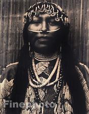 1900/72 Folio NATIVE AMERICAN INDIAN Wishham Girl BEADS Jewelry By EDWARD CURTIS