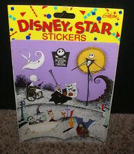 "SEALED 4.75 x 6"" NIGHTMARE BEFORE CHRISTMAS STICKERS Gibson Disney Star HTF OOP"