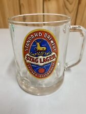 RARE COLLECTABLE STAG LAGER BEER GLASS MUG Good Used Condition