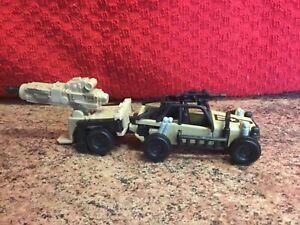 Matchbox military Desert Sand Jeep Car Vehicle with Firing Gun, 1998, Used