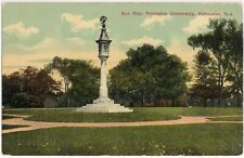 Postcard NJ Sundial Princeton University, New Jersey, Sculpture Globe Pelican