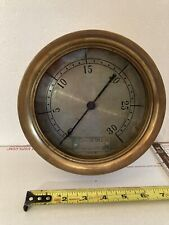 New listing Brass P.F. Hoppe Co. Caisson Pressure Gauge Deep Sea Diving Chamber Gage Steam