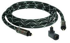 1m SunshineTronic Optisches Kabel TOSLINK blackline + Winkel-Adapter #drehbar
