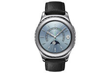 Samsung Gear S2 Classic 40mm Platinum Stainless Steel Case Black Classic Buckle - (SM-R7320WDAXAR)