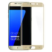 9H Hartglas Samsung S7 Edge HD Panzer Glas Folie Display Schutz FullCover Gold
