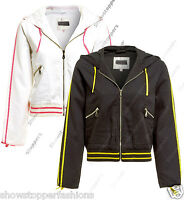NEW Women's Bomber Jacket Size 10 12 14 Casual Lightweight Hooded Girls Coat