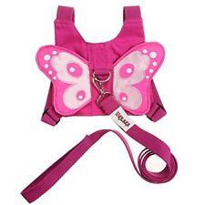 Mochila De Seguridad Con Arnés Para Niñas Estilo Mariposa Rosada Anti Pérdida
