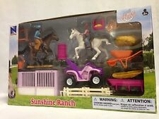 Classic Funtime Horse Riding Playset By New-Ray Toys Pink