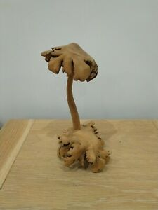 Parasite Wooden Mushroom hand Carved Ornament