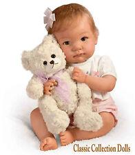 """Ashton Drake """"je promets de vous aime, teddy"""" - Réaliste poseable Baby Doll-Nouveau"""