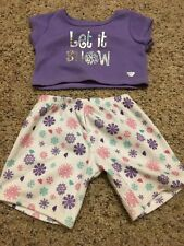 """Let It Snow T-Shirt And Shorts Fits Most 14"""" - 18"""" Build-a-bear"""