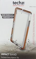 Tech21 Sony Xperia Z1s Clear Impact Band Case - New OEM + free screen protector