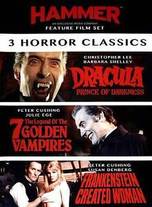 Hammer Horror Classics: 3 Film Set - Dracula (DVD) **NEW/ SEALED**