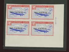 Guernsey SARK 1966 Europa 6d DC3 plane PROOF INVERTED ovpt blk 4