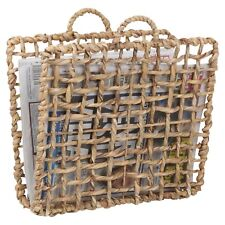 Wicker Magazine Newspaper Rack Holder Floor Stand Basket Storage Vintage Retro