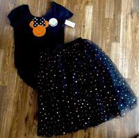 Disney Minnie Mouse Reversible Sequin Tutu Skirt & Top Halloween Outfit-XL-14/16