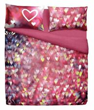 Set Copripiumino Lenzuola Piazza e Mezza Love Is Heart Cuori Rosa Fuxia Bassetti