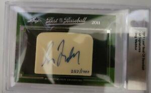 2011 Leaf Best of Baseball 257/1000 Greg Maddux BGS Encased Auto HOF