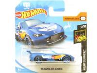 Hotwheels 15 Mazda MX-5 Miata Nightburnerz Short Card 1 64 Scale Sealed New
