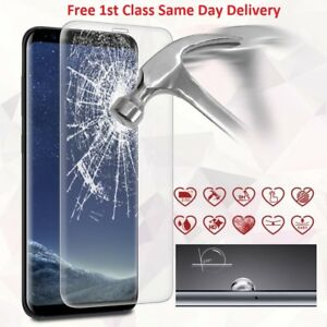 Tempered Glass LCD Screen Protector Clear For Samsung Galaxy S8 Full Curved