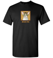 Devon Rex Cat Cartoon T-Shirt Tee, Men Women's Youth Tank Short Long Sleeve