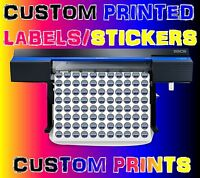 Custom Sticker Printing your Design Vinyl Contour Cut Any Shape Business Labels