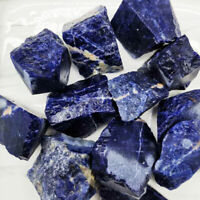 1/2lb Natural Blue Sodalite Bulk Rough Stone Reiki Crystal Healing Mineral Rock