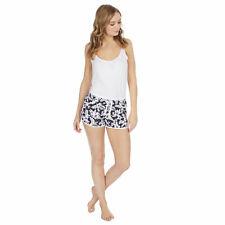Ladies Womens Summer Board Shorts Beach Cover Up Floral Palm Print Swim Girls