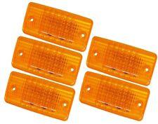 5 Amber LED Clearance Flush Mount Cab Marker Lights
