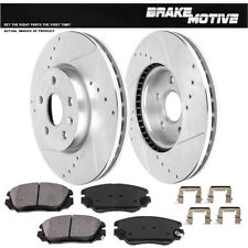 Front Drill Slot Brake Rotors +Ceramic Pads For Chevy Equinox Impala Malibu