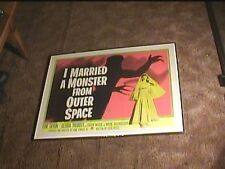 I MARRIED A MONSTER FROM OUTER SPACE 1958 HALF SHEET 22X28 MOVIE POSTER