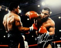 Mike Tyson Hand Signed Autographed 16X20 Photo Punching Boxing GA GV731027