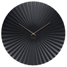Wanduhr Sensu Stahl schwarz Design Uhr Quarzuhr geräuscharm Wohnzimmer 50 cm Ø