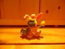 Smurfette Pink Easter Bunny Smurfs Pvc Figure Vintage Smurf Toy 1982