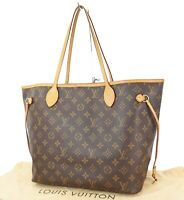 Authentic LOUIS VUITTON Neverfull MM Monogram Tote Bag Purse #32294