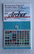 Archer 1/35 British 8th Army AOS & Formation Signs 1940-1942 #5 (5mm) AR35071.5