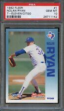 1992 Fleer Baseball 7-Eleven/Citgo #1 Nolan Ryan PSA 10 Rangers
