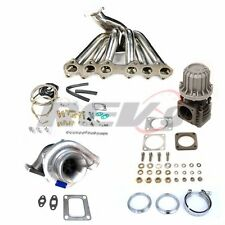 REV9 93-98 TOYOTA SUPRA 2JGTE T4 TOP MOUNT MANIFOLD TURBO CHARGER SET UP KIT
