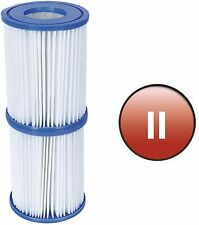 More details for bestway filter cartridge type ii twin pack replacement swimming pool pump filter