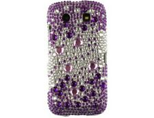 Hard Plastic Case with Purple /Silver Hearts Diamond for BlackBerry Torch 9860