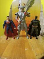"""Batman Superman Steppenwolf 6"""" inch DC JUSTICE LEAGUE MOVIE ACTION FIGURE SET"""