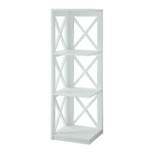 Convenience Concepts Oxford 3 Tier Corner Bookcase, White - 203070W