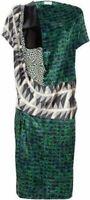 DRIES VAN NOTEN £684 Bohemian Shift floral animal print silk dress size 38