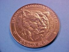 North American Hunting Club Grizzly Bear 1oz Round Bronze Token N125