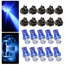 10pcs Blue T10 168 194 LED Bulbs Instrument Gauge Cluster Dash Light W/ Sockets